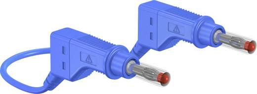Veiligheidsmeetsnoer Stäubli XZG410 50 CM BLAU [ Banaanstekker 4 mm - Banaanstekker 4 mm] 0.5 m Blauw