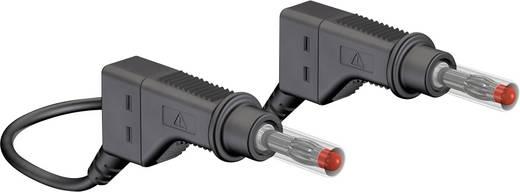Veiligheidsmeetsnoer Stäubli XZG425-E 100 CM SCHWARZ [ Banaanstekker 4 mm - Banaanstekker 4 mm] 1 m Zwart