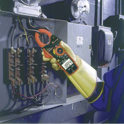 Extech EX830 Stroomtang, Multimeter Digitaal Kalibratie: Zonder certificaat IR-thermometer CAT III 600 V Weergave (count