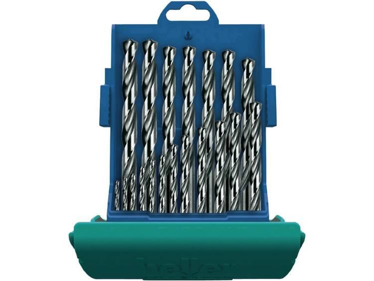 Heller 28707 4 HSS Metaal-spiraalboorset 25-delig geslepen Cilinderschacht 1 set