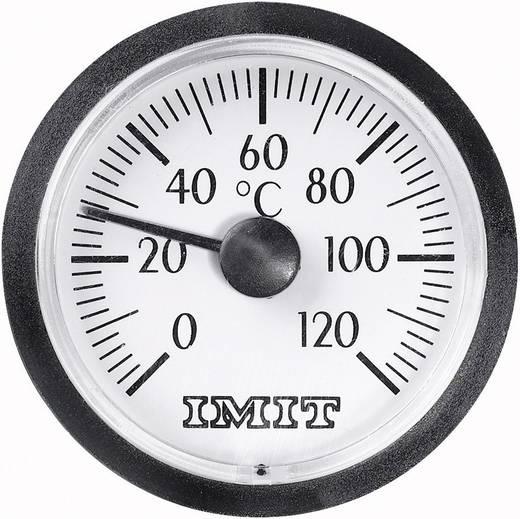 100848 Capillaire inbouwthermometer klein 0 tot +120 °C Inbouwmaten Ø 38,5 mm Kalibratie: Zonder certificaat