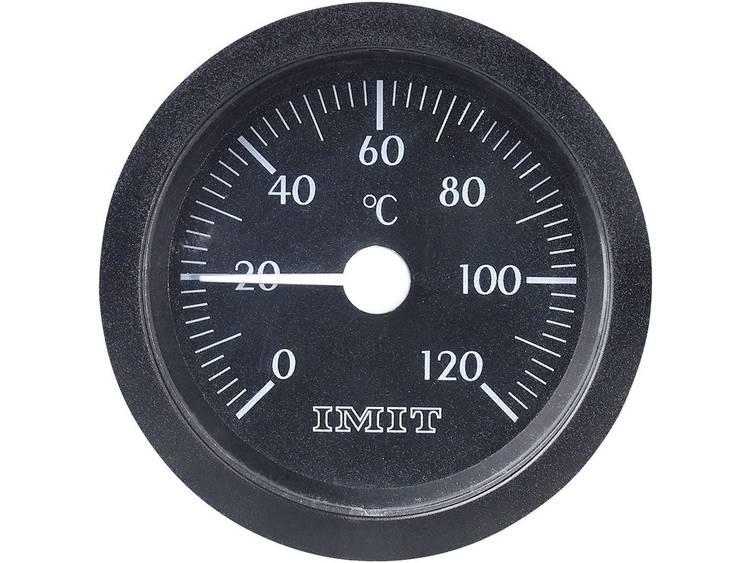 Capillaire inbouwthermometer groot Inbouwmaten Ø 52 mm