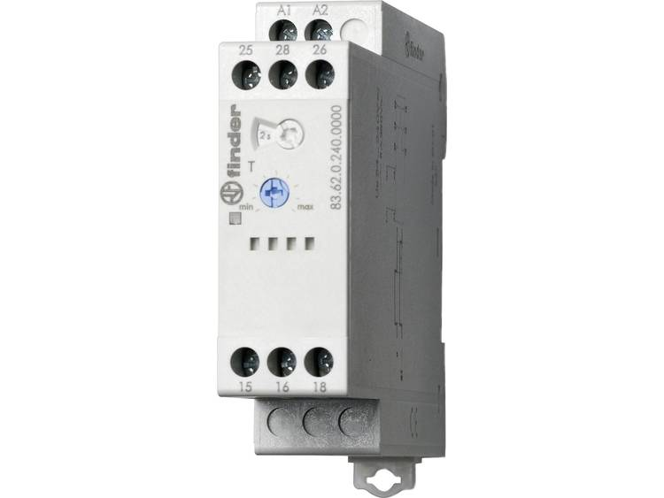 Tijdrelais Finder 83.62.0.240.0000 24 240 V DC-AC 2 wisselcontacten 8 A 250 V-AC