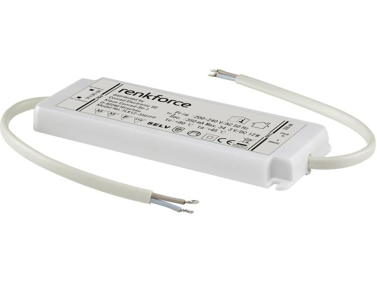 Renkforce LED-driver 0-12 W 350 mA KONSTS 1217847 Wit
