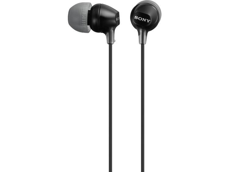 MDR-EX15LP in-ear hoofdtelefoon, Zwart
