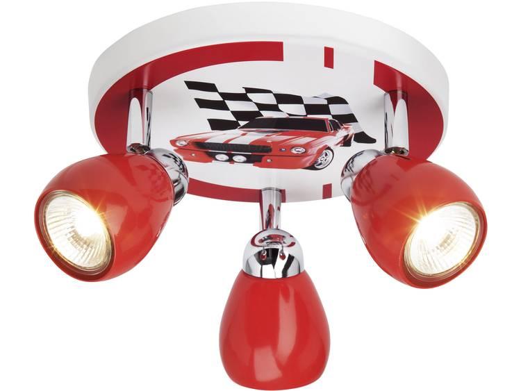 energie A++, Plafondlamp Racing meerkleurig metaal 3 lichtbronnen, Lux