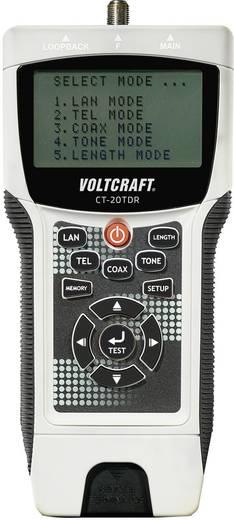 VOLTCRAFT CT-20TDR kabeltester Geschikt voor Afgeschermde/niet-afgeschermde kabels, CAT3, CAT4, CAT5, CAT5e, CAT6, coax