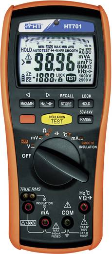 HT Instruments HT701 50, 100, 250, 500 V, 1000 V DC 0,0 Ω - 40 MΩ CAT IV 600V / CAT III 1000V