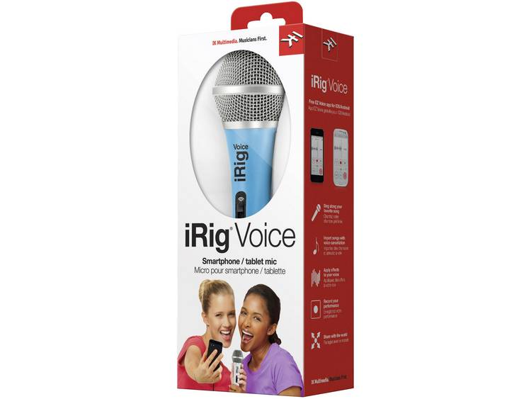 IK Multimedia iRig Voice blauw iOS microfoon