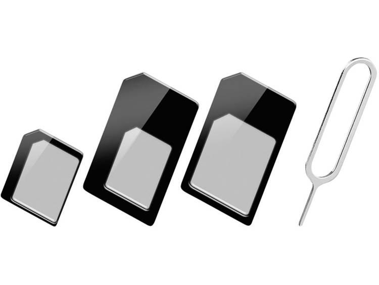 Goobay simkaart adapter (multi adapter voor Nano-, Micro- en standaard Simkaarten)