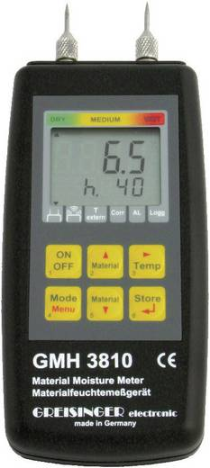 Greisinger GMH 3810 Materiaalvochtigheidsmeter Meetbereik bouwvochtigheid 4 tot 100 %Vol. Meetbereik houtvochtigheid 4 tot 100 %Vol. Temperatuurmeting