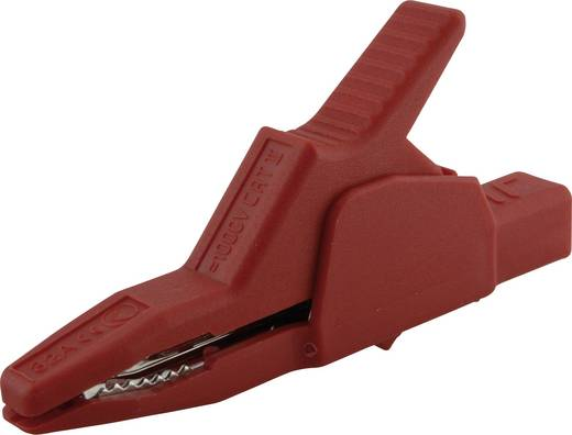 Veiligheids-krokodilklem Steekaansluiting 4 mm CAT II 1000 V SKS Hirschmann AK 2 B 2540 I Rood