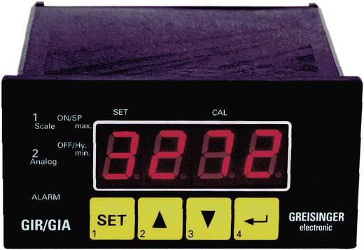 Greisinger GIR 2002 Inbouw meet- en regelapparaat GIR 2002 0 - 1 V/0 - 2 V/0 - 10 V/0 - 50 mV/4 - 20 mA/0 - 20 mA/0 - 10 kHz/0 - 9999 omw./min. Inbouwmaten 43 x 90.5 mm