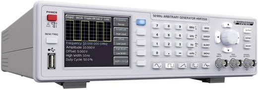 Rohde & Schwarz HMF 2550 Arbitraire functiegenerator 10 µHz - 50 MHzKanaaltype 1Interface(s)=USB/RS232Signaaluitgangsvorm(en) sinus/rechthoek/impuls/driehoek/kanteel/arbitrary105 - 253 V/AC