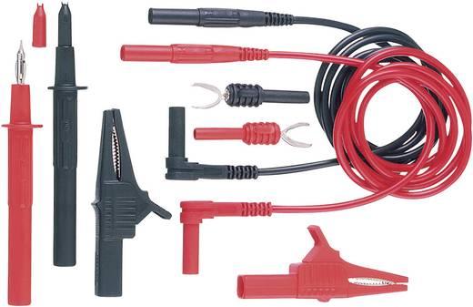 Stäubli Z4S-200 Veiligheidsmeetsnoerenset [ Banaanstekker 4 mm - Banaanstekker 4 mm] 1 m Zwart, Rood