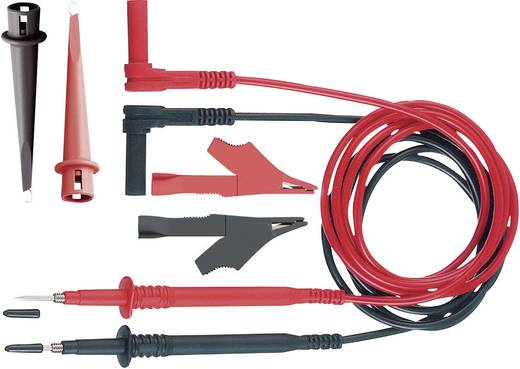 MultiContact Z4S-250 Veiligheidsmeetsnoerenset [ Banaanstekker 4 mm - Testpunt] 1 m Zwart, Rood