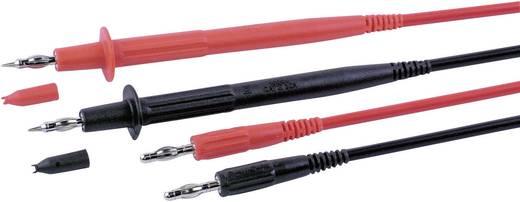 Meetsnoerenset Stäubli PLL-145/L-415 FLEXI-2V 1,0 100 CM [ Banaanstekker 4 mm - Testpunt] 1 m Zwart, Rood