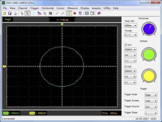 VOLTCRAFT DSO-2150AL Oscilloscoop-voorzetstuk 80 MHz 2-kanaals 250 MSa/s 64 kpts 8 Bit Digitaal geheugen (DSO), Spectru