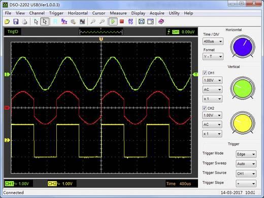 VOLTCRAFT DSO-5200AL Oscilloscoop-voorzetstuk 200 MHz 2-kanaals 250 MSa/s 1 Mpts 8 Bit Digitaal geheugen (DSO), Spectru