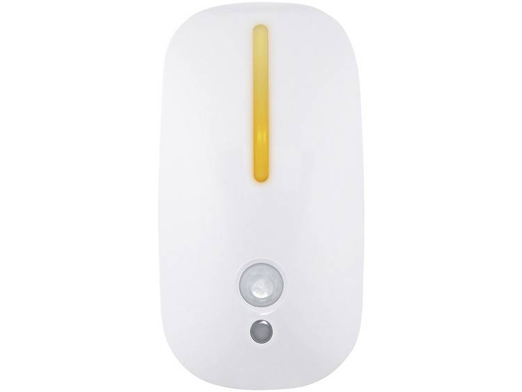 M�ller Licht Nachtlamp met bewegingsmelder Ovaal LED Amber 57022 Wit