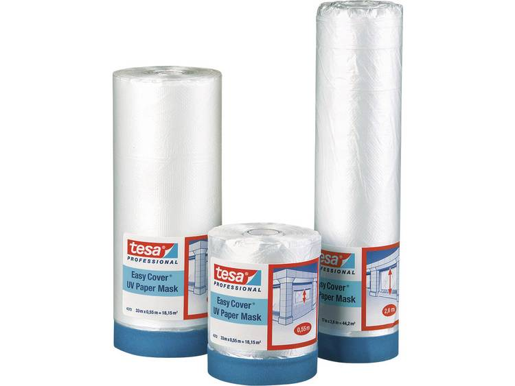 tesa Easy Cover 4372 UV afdekfolie (l x b) 33 m x 140 cm Transparant 04372-1-1 TESA Inhoud: 1 rollen