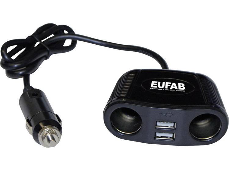Sigarettenaanstekerverdeler Aantal sigarettenaanstekerbussen 2 x Interfaces USB 2 x Stroombelasting (max.) 10 A Eufab 16549
