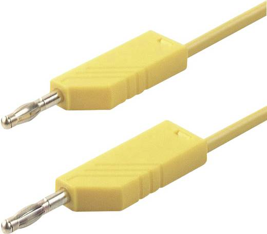 SKS Hirschmann CO MLN 100/2,5 Meetsnoer [ Banaanstekker 4 mm - Banaanstekker 4 mm] 1 m Geel