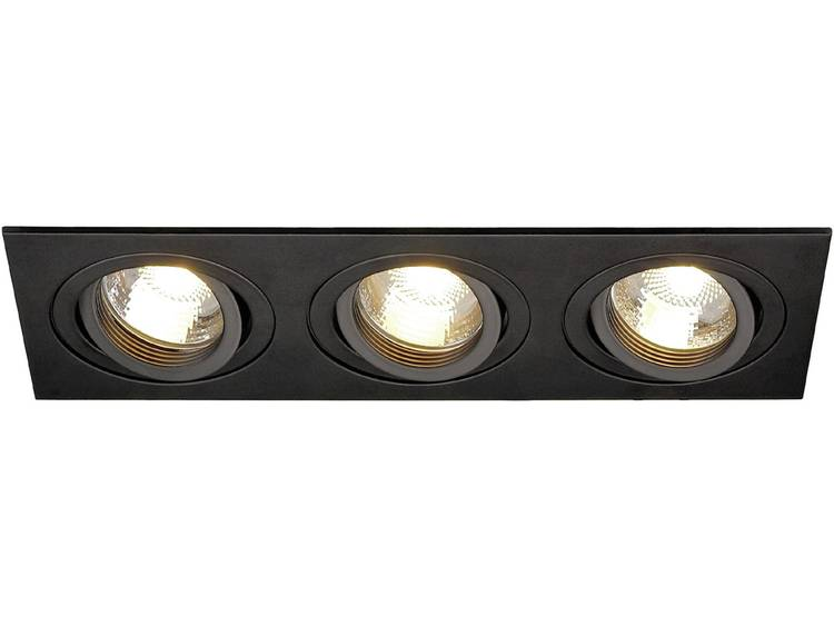 SLV Plafondinbouwlamp New Tria III Zwart 113493