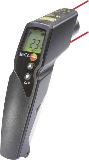 Infrarood-thermometer testo 830-T2 Optiek (thermometer) 12:1 -30 tot +400 °C Contactmeting Kalibratie conform: Fabriekss