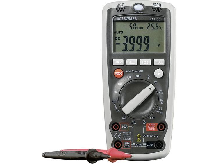 VOLTCRAFT MT 52 Multimeter Digitaal Kalibratie conform Fabrieksstandaard zonde