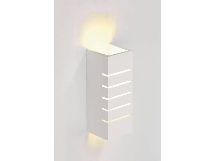 energie A+, Wandlamp Slot wit gips GL 100 hoekig E14, max 40W, Lux