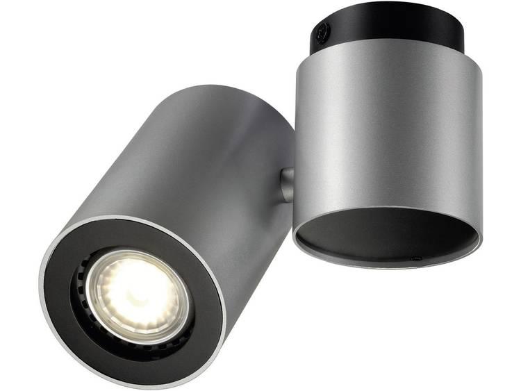 Plafondspot Spaarlamp, LED GU10 50 W SLV Enola_B 151824 Zilver-grijs, Zwart