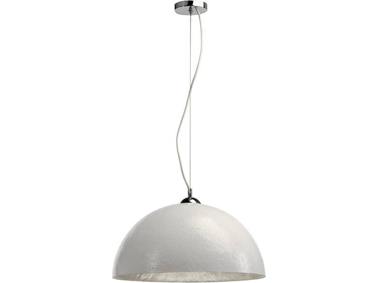 FORCHINI hanglamp groot, wit,zilver