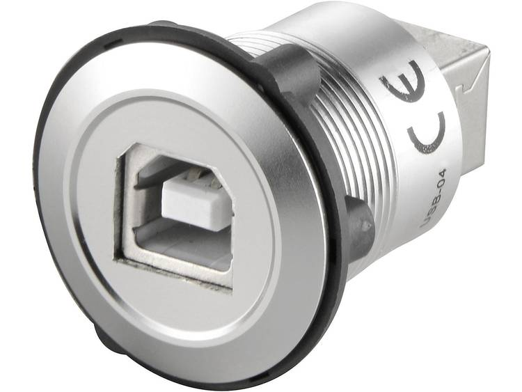 TRU COMPONENTS USB-03 1229312 USB-connector USB-bus type B naar USB-bus type A Zilver 1 stuk(s)