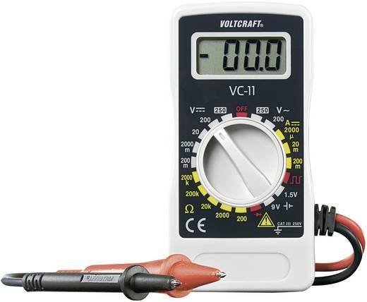 Multimeter VOLTCRAFT VC-11 CAT III 250 V Fabrieksstandaard (zonder certificaat)