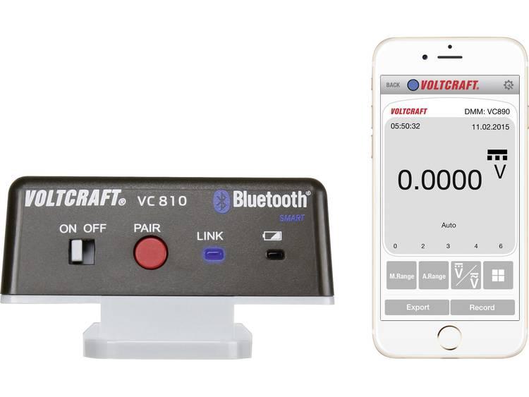 VOLTCRAFT VC810 Bluetooth-adapter VC810 Geschikt voor VC830, VC850, VC870, VC880, VC890 VC810