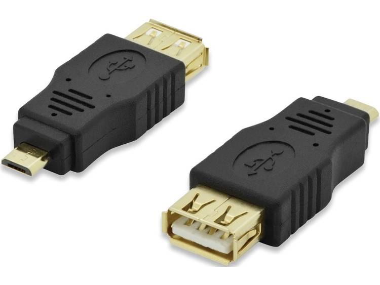ednet USB Adapter [1x Micro-USB 2.0 stekker B - 1x USB 2.0 bus A] 84194 Vergulde steekcontacten