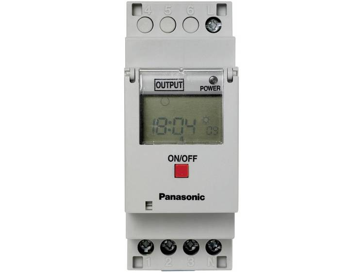 Digitale 1 kanaals schakelklok TB6210187 Panasonic TB6210187 220 240 V-AC 1 wisselaar 16 A 250 V-AC