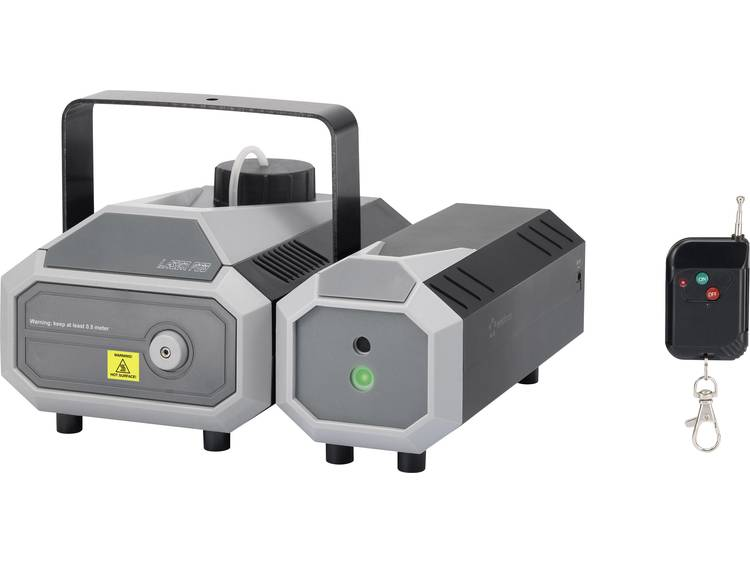 Renkforce FL-01RG Rookmachine Incl. radiografische afstandsbediening, Incl. kabelgeboden afstandsbediening, Met lichteffect, Incl. bevestigingsbeugel