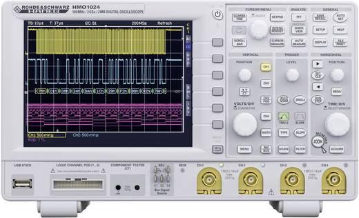 Rohde & Schwarz HMO1024 Digitale oscilloscoop 100 MHz 12-kanaals 1 GSa/s 1 Mpts 8 Bit Digitaal geheugen (DSO), Mixed-si