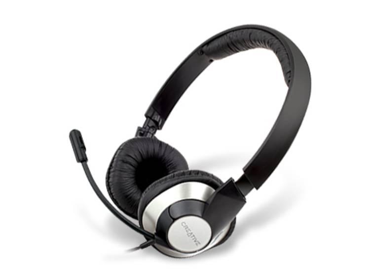 Creative Chatmax HS-720 PC-headset USB Kabelgebonden Over Ear Zwart/zilver