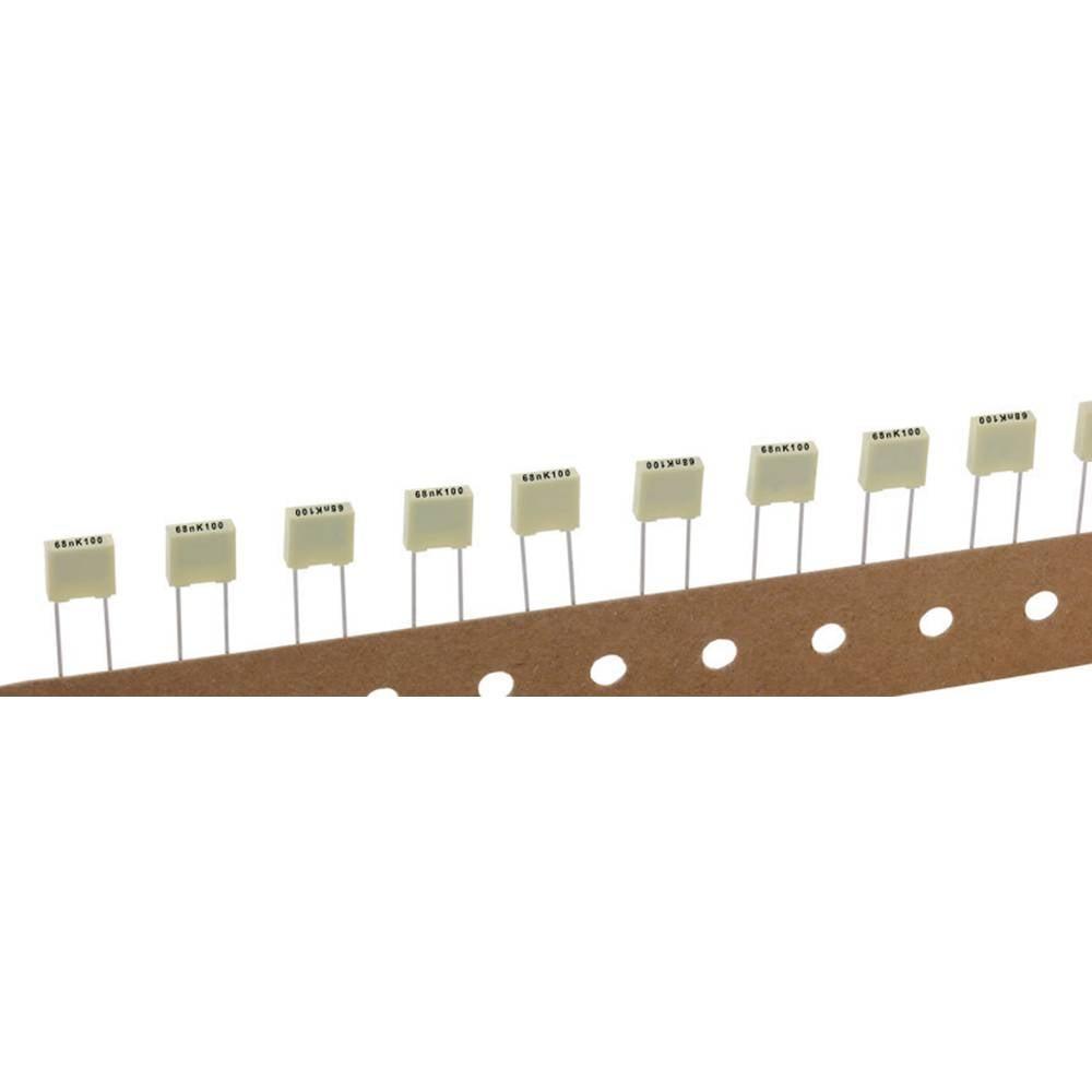 Kemet R82EC2100DQ50K+ 1 stuk(s) Polyester condensator Radiaal bedraad 10 nF 100 V 10 % 5 mm (l x b x h) 7.2 x 2.5 mm x 6.5 mm