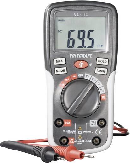 VOLTCRAFT VC-110 Multimeter Digitaal Kalibratie: Zonder certificaat CAT III 600 V Weergave (counts): 2000