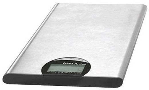 Maul MAULsteel 5000 G Brievenweegschaal Weegbereik (max.) 5 kg Resolutie 1 g werkt op batterijen Zilver