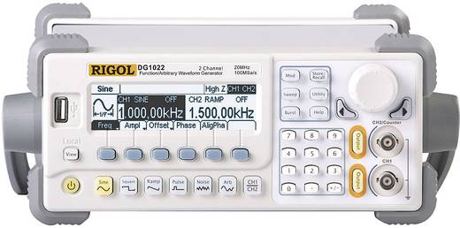 Rigol DG1022 arbitraire functiegenerator 1 µHz - 20 MHz Kanaaltype 2 Interface(s): USB/USB-host Signaaluitgangsvorm(en):