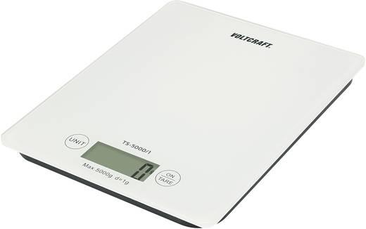 VOLTCRAFT TS-5000/1 Brievenweegschaal Weegbereik (max.) 5 kg Resolutie 1 g Werkt op batterijen Wit