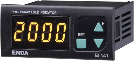 Enda EI141-SM SW Universeel LED-display EI141A 0 - 20 mA/4 - 20 mA/0 - 1 V/0 - 10 V Inbouwmaten 70 x 29 mm