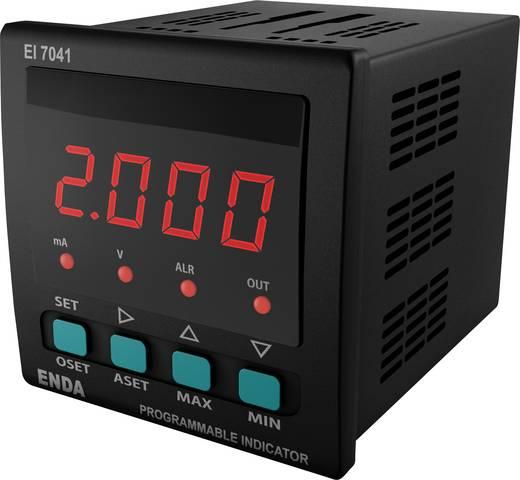 Enda EI7412-230-AS12 SW Universeel LED-display EI7412 0 - 20 mA/4 - 20 mA/0 - 1 V/0 - 10 V Inbouwmaten 68 x 68 mm