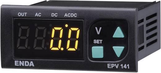 Enda EPV241A-R-230 SW Programmeerbare LED-voltmeter EPV141-R ±500 V/AC/DC Inbouwmaten 70 x 29 mm