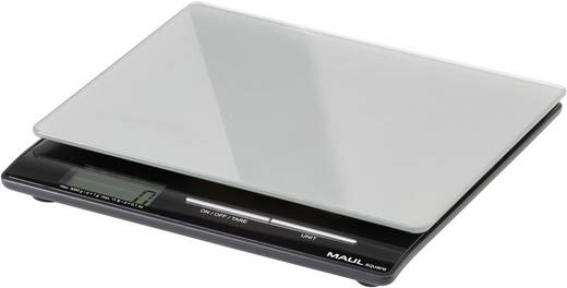 Maul MAULsquare 5000 g Brievenweegschaal Weegbereik (max.) 5 kg Resolutie 1 g werkt op batterijen Zilver